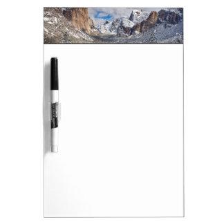 Yosemite Valley in Snow Dry Erase Board