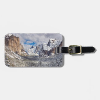 Yosemite Valley in Snow Luggage Tag