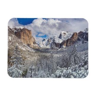 Yosemite Valley in Snow Magnet