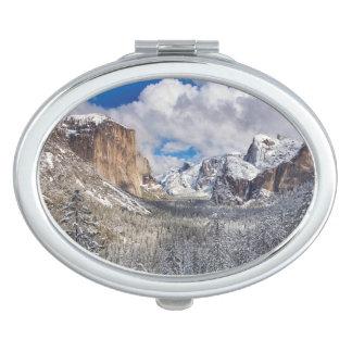 Yosemite Valley in Snow Makeup Mirror