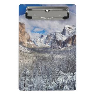 Yosemite Valley in Snow Mini Clipboard