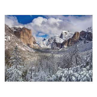 Yosemite Valley in Snow Postcard