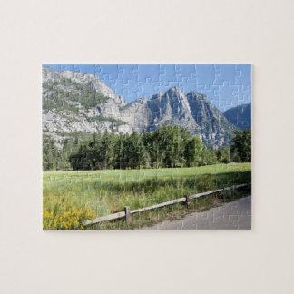 Yosemite Valley Meadow, El Capitan, Staycation Jigsaw Puzzle