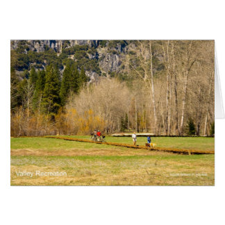 Yosemite Valley Recreation California Products Greeting Cards