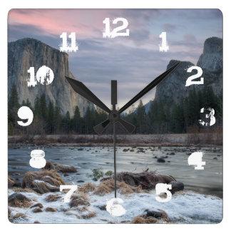 Yosemite Valley Square Wall Clock