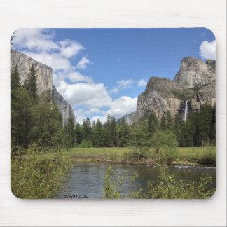 Yosemite Valley Waterfall Mouse Mat