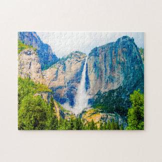 Yosemite Waterfall Nevada. Jigsaw Puzzle