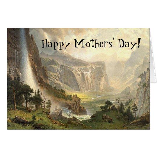Yosemite Wilderness Waterfall Mothers Day Card