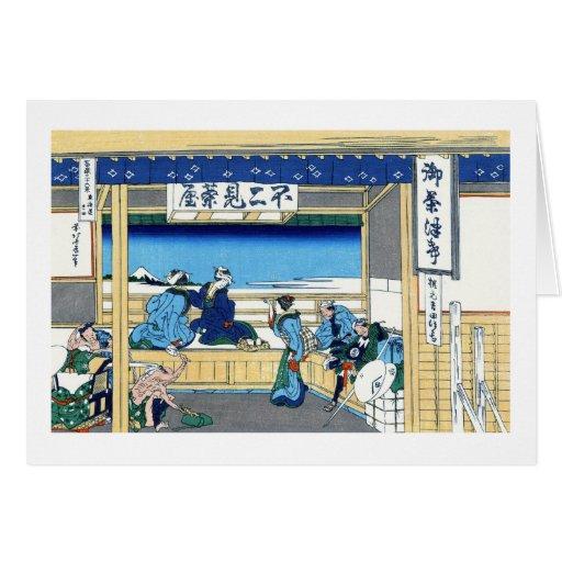 Yoshida at Tokaido Katsushika Hokusai Fuji Greeting Card