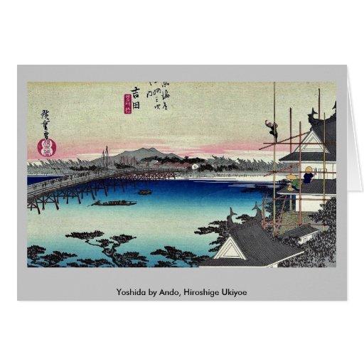 Yoshida by Ando, Hiroshige Ukiyoe Greeting Card