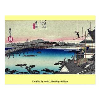 Yoshida by Ando, Hiroshige Ukiyoe Postcard