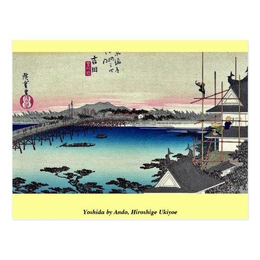 Yoshida by Ando, Hiroshige Ukiyoe Postcards