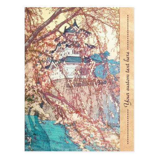 Yoshida Hiroshi Hirosaki Castle japan shin hanga Post Card