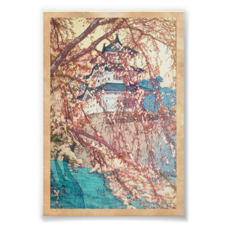 Yoshida Hiroshi Hirosaki Castle japan shin hanga Poster
