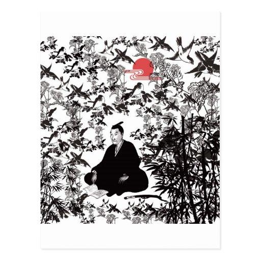 Yoshida Shoin and bird Post Card