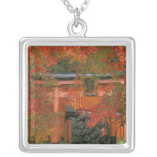 Yoshimine Temple, Nagaoka, Kyoto, Japan Silver Plated Necklace