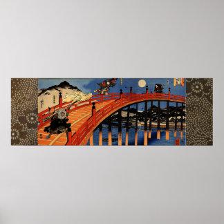Yoshitsune and Benkei Poster