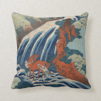 Yoshitsune Umarai waterfall at Yoshino in Washū. Cushion