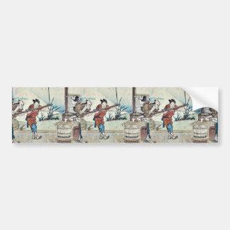 Yoshiwara  by Katsushika, Hokusai Ukiyoe Bumper Stickers