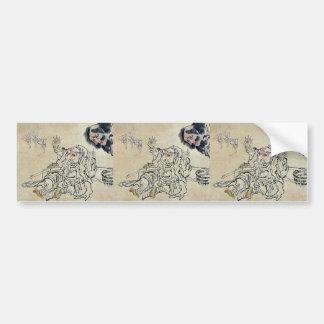 Yoshiwara sparrow dance Ukiyo-e. Bumper Stickers