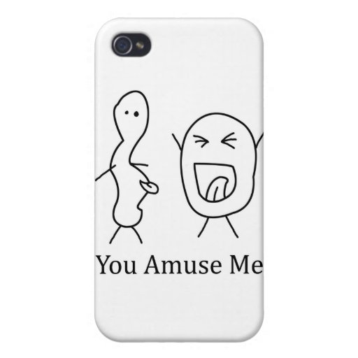 You Amuse Me logo Cover For iPhone 4