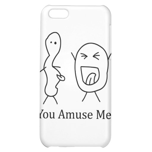 You Amuse Me logo Case For iPhone 5C