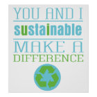 You and I Sustainable Poster