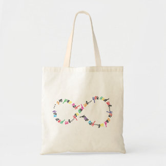 You and Me Infinity Budget Tote