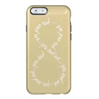 You and Me Infinity -iPhone 6 Feather® Shine, Gold Incipio Feather® Shine iPhone 6 Case