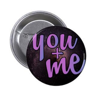 You and me, night sky 6 cm round badge