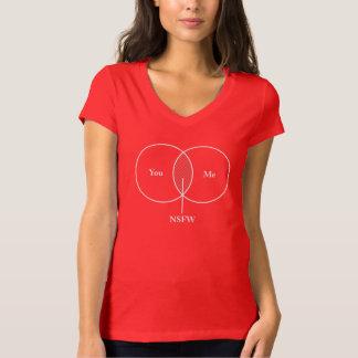 You and Me NSFW Venn Diagram Tshirt