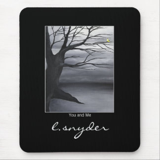 You and Me Oil Painting Mouse Pad