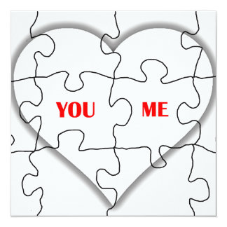 YOU AND ME _ PUZZLE OF LOVE CARD