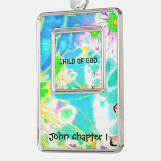 You Are A Child Of God Silver Plated Framed Ornament