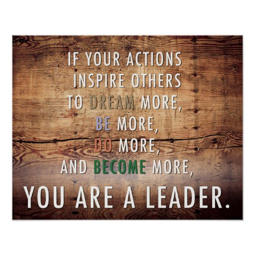 You are a leader poster