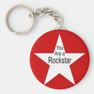 You are a Rockstar Basic Round Button Key Ring