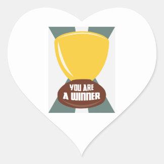 You Are A Winner Heart Sticker