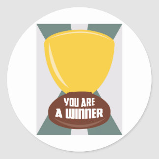 You Are A Winner Round Sticker