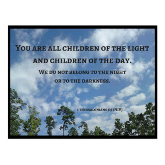 You are all children of the light (Thes 5:5) Postcard
