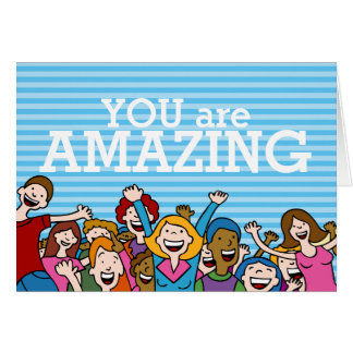 You are amazing teamwork Greeting Card