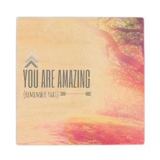 You Are Amazing Wood Coaster