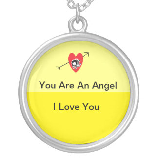 You Are An Angel Round Pendant Necklace