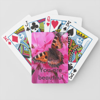 You are beautiful bicycle playing cards