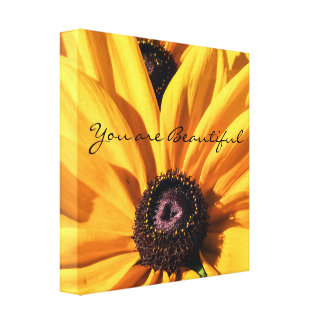 You Are Beautiful Black Eyed Susan Canvas Print