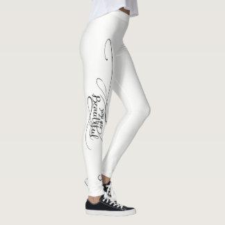 You Are Beautiful White Leggings