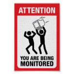 You Are Being Monitored - Office Humour