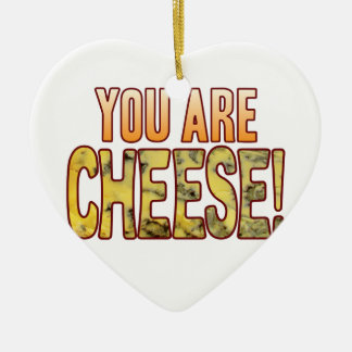 You Are Blue Cheese Ceramic Heart Decoration