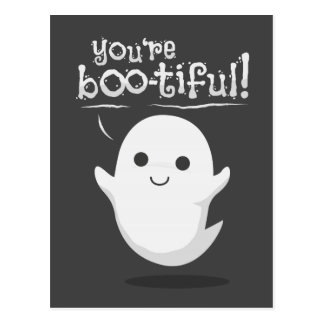 You are bootiful ghost postcard