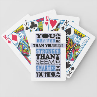 You are Braver Than You Believe Gift Poker Deck