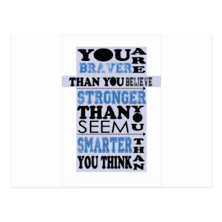 You are Braver Than You Believe Gift Postcard
